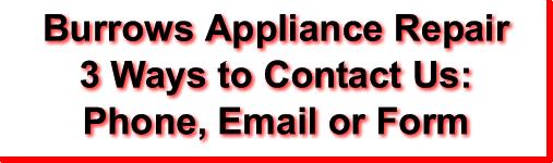 Burrows Appliance Repair Contact Banner